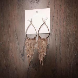 kate landry • gold fringe drop earrings